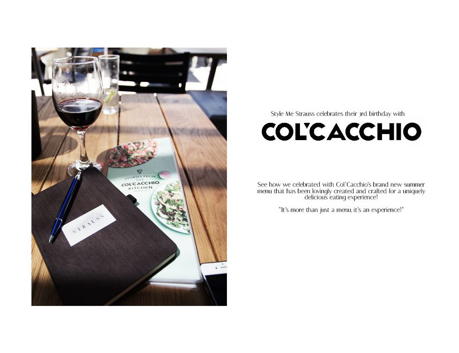 LIFESTYLE | COL' CACCHIO INTRODUCES A BRAND NEW SUMMER MENU